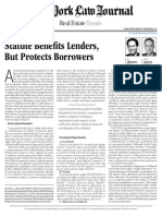 Statute Benefits Lenders, But Protects Borrowers