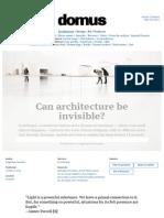 Can Architecture Be Invisible_DOMUS_MARZO 2013