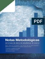 NOTAS METODOLÓGICAS de la base de datos de estadísticas de turismo