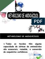 AULA 11 - Metabolismo dos aminoácidos