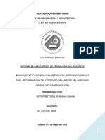 INFORME TERMINADO de Peso Volumetrico Compactado