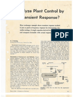 1961 Analyze Plant Control by Transient Response