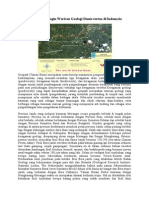 Geopark Merangin Warisan Geologi Dunia tertua di Indonesia.doc