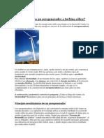 Cómo funciona un aerogenerador o turbina eólica IVAN -BEI