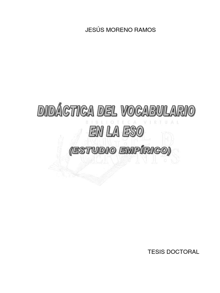 Didactica Del Vocabulario en La Eso Estudio Empirico 0