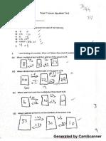 Maths Topic Test