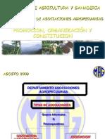 Apoyo Para El Establecimiento de Asociacion y Cooperativa Por MAG