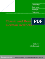 Classic and Romantic German Aesthetics (Cambridge Texts in the History of Philosophy) - J.M. Bernstein, Ed