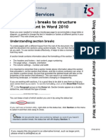 Using Section Breaks to Structure Your Document in Word 2010