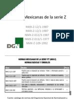 Normas Mexicanas de La Serie Z