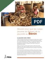 Œuvrer pour que les ruraux pauvres se libèrent de la pauvreté au Bénin