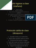 Protocolo Ingreso a clase (mañana)