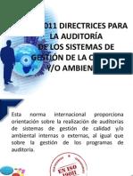 ISO 9011 DIRECTRICES PARA LA AUDITORÍA