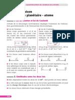 Quantification de l'Energie de l'Atome