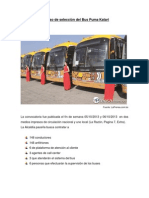 Proceso de selección del Bus Puma Katari