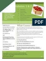 Diabetes 1 & 2 fact sheet