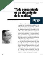 Todo Pensamiento Es Un Alejamiento de La Realidad, Entrevista a Fernando Savater