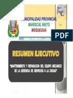 Mantenimiento y Reparacion Del Equipo Mecanico de La Gerencia de Servicios a La Ciudad