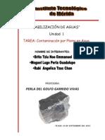 documento contaminación de plomo en agua