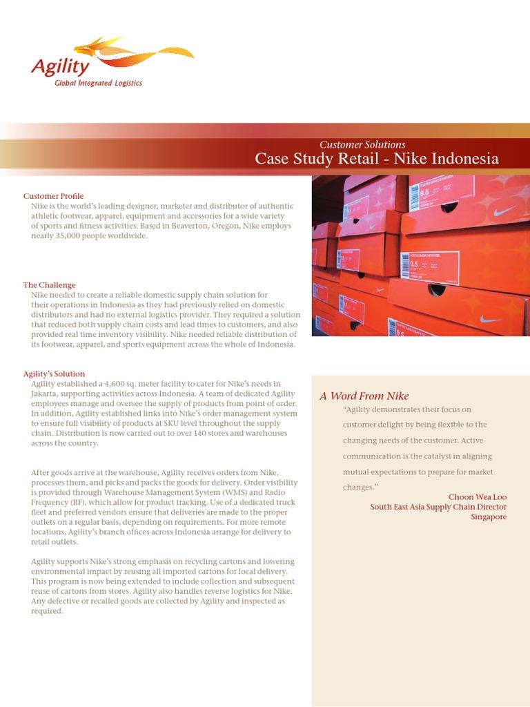 Agility - NIKE Supply Chain Case Study pdf | Warehouse | Nike