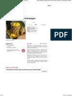 Ananas surprise au champagne - une recette Fête - Cuisine