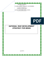 National rice development strategy for Benin