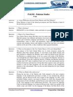 PAK301 - Pakistan Studies