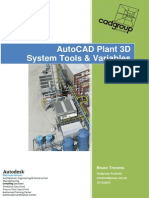 AutoCAD Plant 3D System Tools Variables