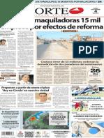 Periodico Norte de Ciudad Juarez 4 de Noviembre de 2013