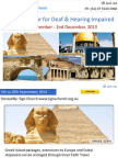 Holy Land Tour from Australia on Nov 2013 for Deaf & Hearing Impaired