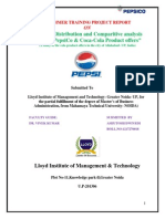 Sales & Distribution and Comparison between PepsiCo & Coca-Cola  AHUTOSH DWIVEDI.docx