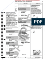 Ballot Sample