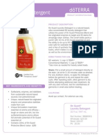 On Guard Laundry Detergent Product Information