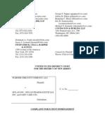Warner Chilcott Company v. Mylan et. al..pdf