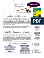 August CIAA Newsletter