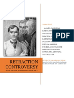 Rizal - Retraction Controversy.docx