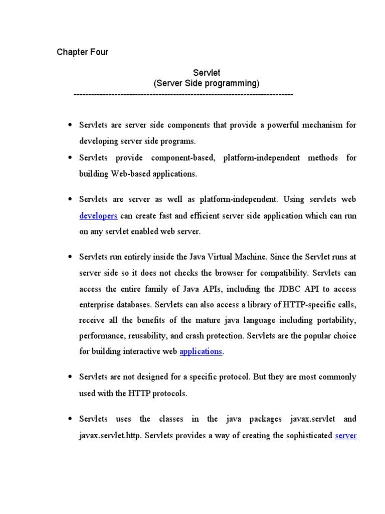 Servlet notesc java servlet hypertext transfer protocol baditri Gallery