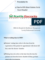 Reducing waiting time in OPD, Fortis Escort2.pptx