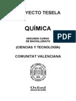 Programacion Tesela Quimica 2 BACH Comunitat Valenciana