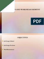 Job Design and Work Measurement.