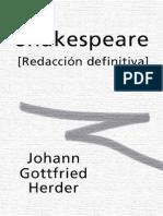 Herder Johann Gottfried - Shakespeare
