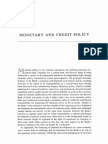 Monetary and Credit Policy