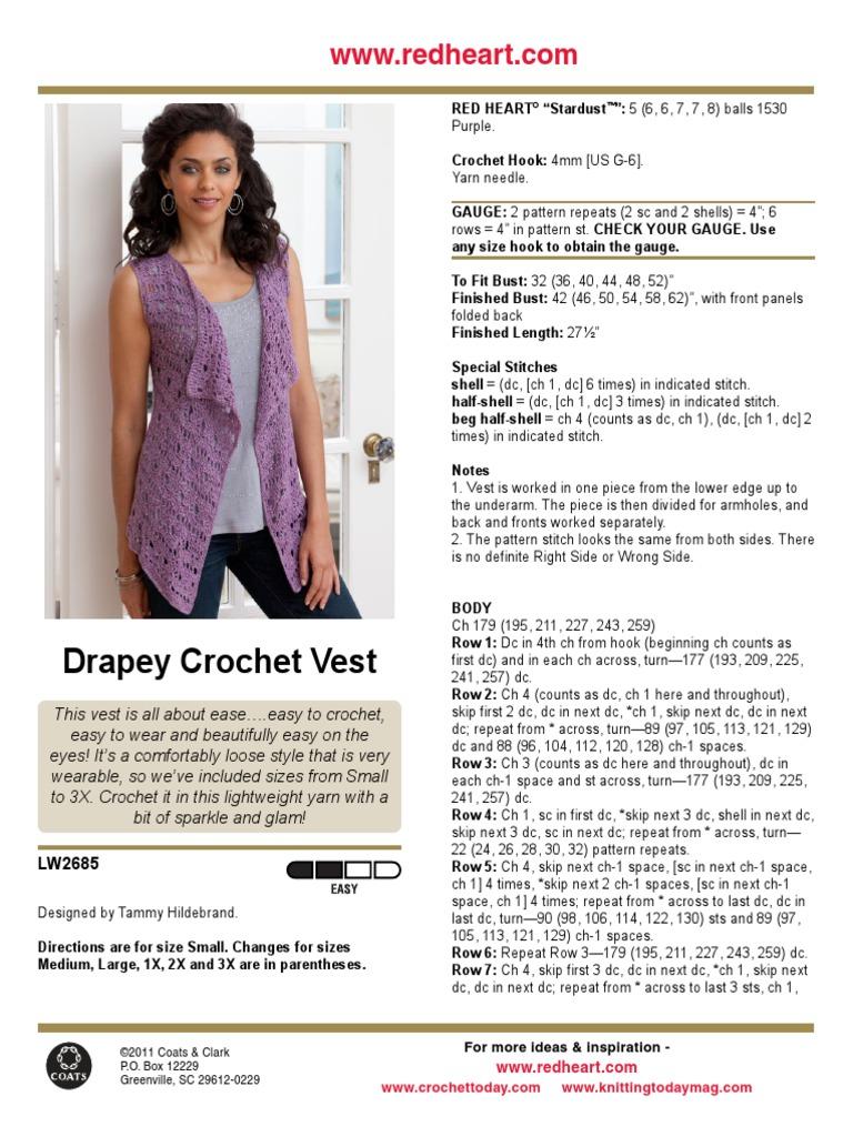 LW2685.pdf | Knitting | Gauge (Knitting)