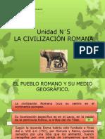 Unidad N°5 la civilización romana.
