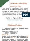 Applications of Aqueous Equilibria