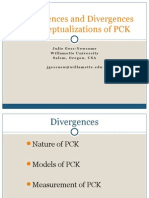 Convergences and Divergences in Conceptualizations of PCK