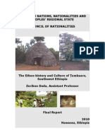 The Ethnohistory & Culture of Tambaro Nationality of Ethiopia