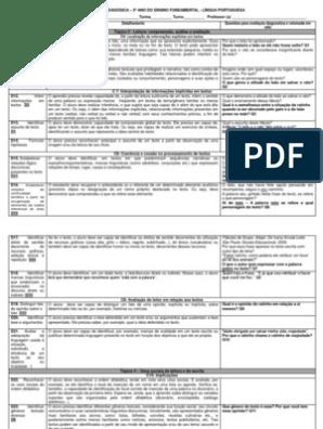Descritores Pralfa E Proeb Utilizado Na Sequencia Didatica