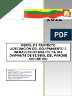 Perfil Adecuación Del Equipamiento E Infraestructura Física Del Diamante De Beisbol Del Parque Deportivo