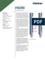 Single shot reversing valve